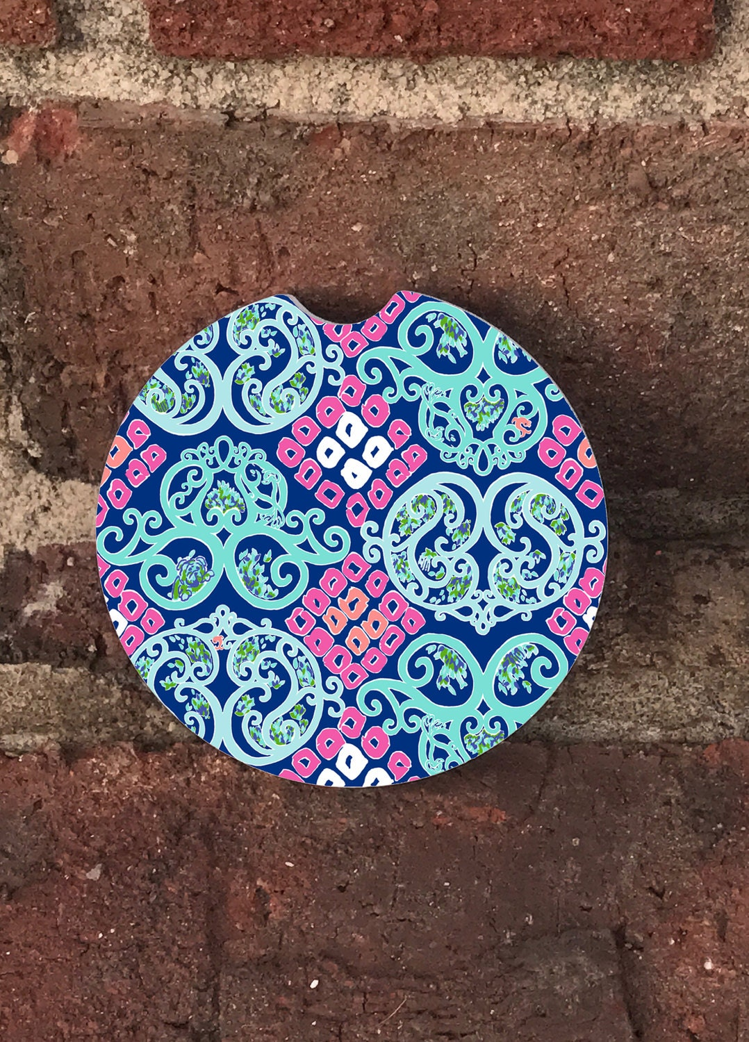 Sandstone Lilly Pulitzer Bright Navy Behind The Gate Auto Car