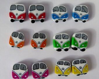 blue Bus earpins