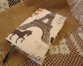 Book cover,paperback book cover, book protector,fabric book cover,padded cover,cotton,linen, Paris, french,butterfly, eiffel tower, horse