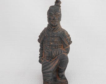 Chinese Terracotta Army Figurine - Terracotta Warrior Ornament - Chinese Sculpture, Chinese Decor - Ethnic Figure - Earthenware Figure