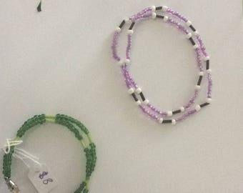 Double strand bracelets with clips