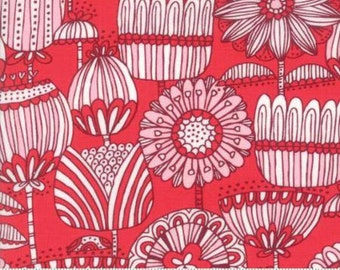 Funny Flower on Pink cotton fabric,  Just Another Walk in the Woods by Moda