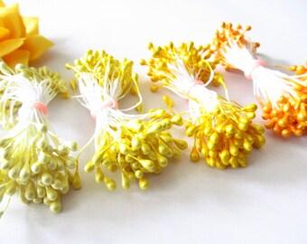 Yellow Artificial Flower Stamen