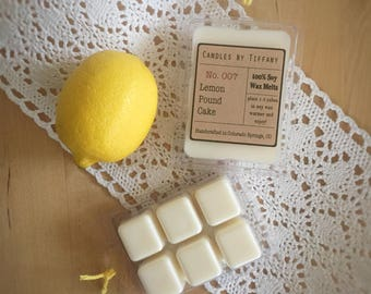 LEMON POUND CAKE Soy Wax Melts / Hand Poured Wax Melts / Soy Wax Tarts / Clamshell Melts / Eco Friendly / Highly Scented / Cake Scents