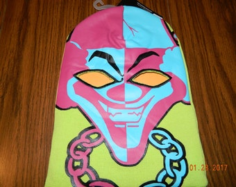 "New with tags- ICP ""The Carnival Of Carnage"" Full Face Beanie with cut out eyes"