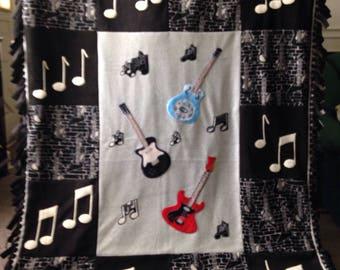 GUITARS and MUSIC NOTE Fleece Blanket