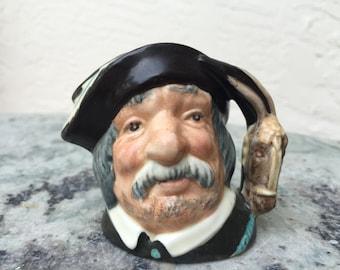 "Vintage Royal Doulton Mini Mug Toby Jug Miniature Sancho Panca D6516 Made in England 2.5"""