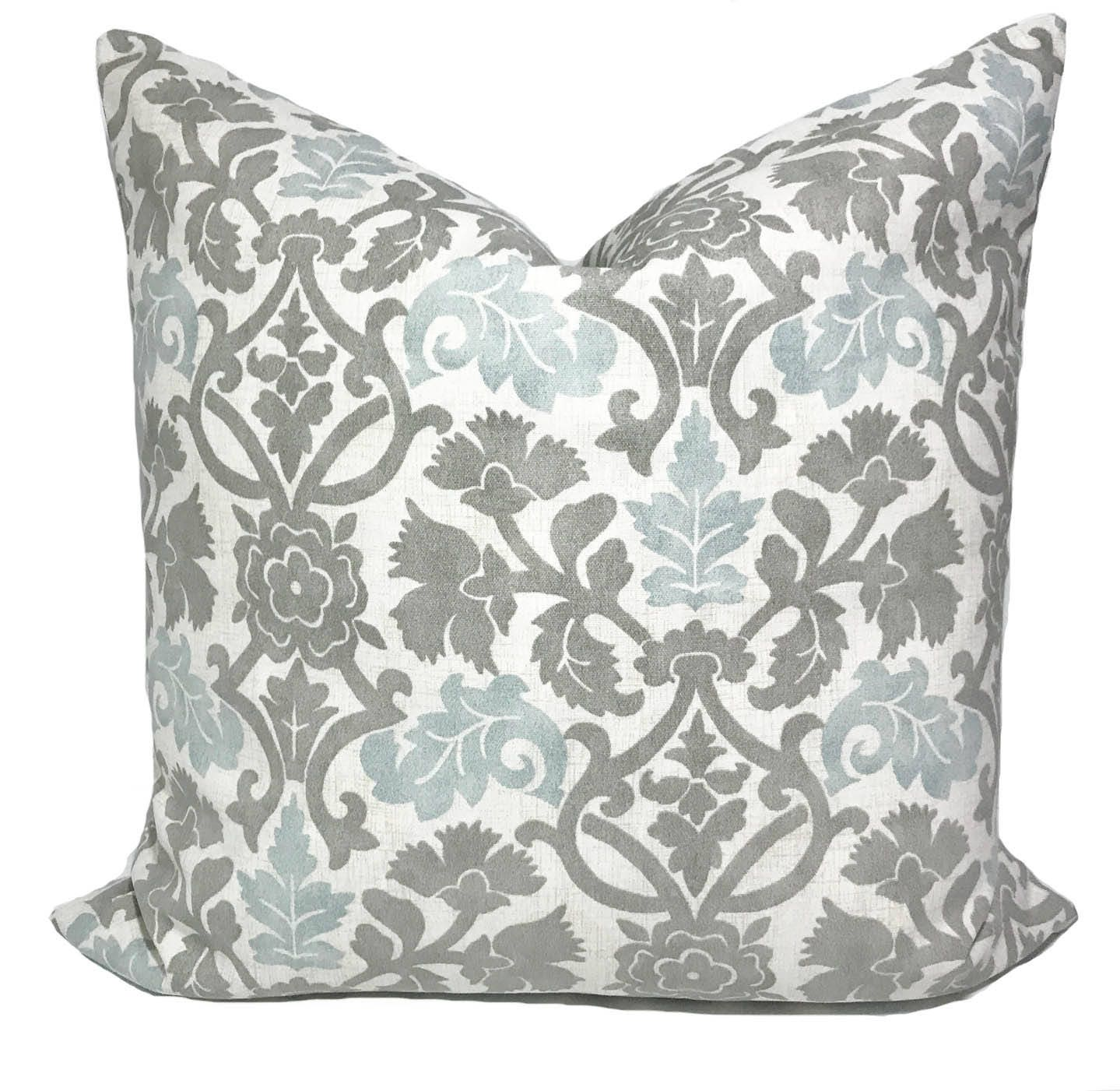 gray pillow cover gray throw pillows cushion covers blue. Black Bedroom Furniture Sets. Home Design Ideas