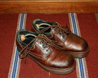 Men 8 US 7 UK Dr Martens Airwair Brown Leather Shoes Made in England