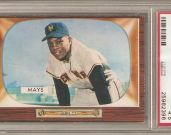 1955 Bowman Willie Mays PSA 4.5 VG-EX+
