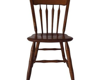 ethan allen nutmeg maple thumb arrow back chair