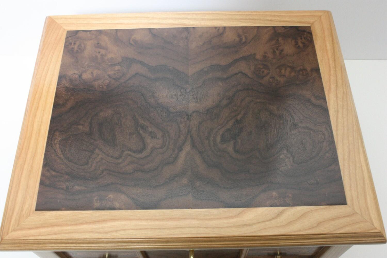 Wood Box with Book-matched Black Walnut Burl