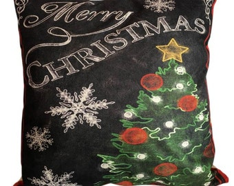Vintage Merry Christmas - Pillow Cover