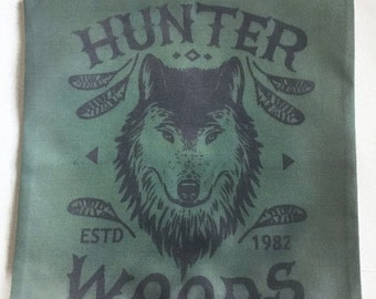 Hunter Woods Wolf - Pillow Cover