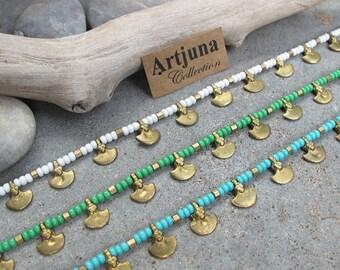 White Ankle Bracelet, White Anklet, Turquoise Ankle Bracelet, Turquoise Anklet, Bohemian Anklet, Ankle Bracelet