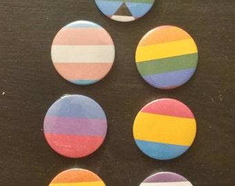 LGBTQ Pin Back Buttons