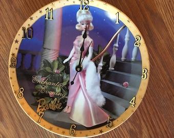 A Barbie 8 1/4 Inch Clock -