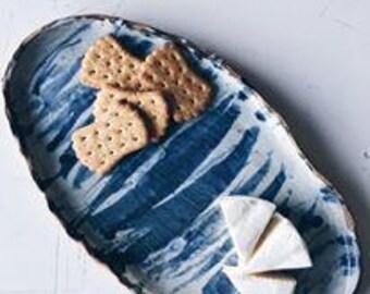 White and Blue Platter