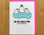 Penguin Mothers Day Card - Cute Penguin Card, Penguin Gift, Gift for Mom, Mothers Day Gift, Funny Mothers Day Card