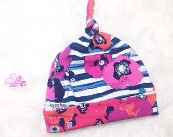 Baby Beanie, Newborn Top Knot, Newborn hat