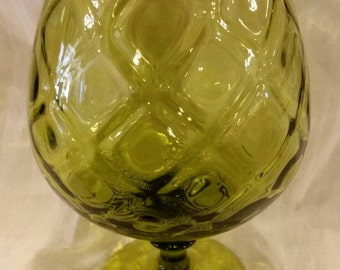 Avacado colored Empoli snifter vase