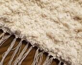 "Cream long fuzzy warm and soft floor runner.   26"" x 76"" (6' 4"")"