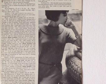 1960s Vogue Knitting Book magazine no. 66, knitting patterns from 1965