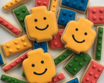 Assorted Connecting Blocks Sugar Cookies; 1 1/2 Dozen