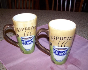 Espresso Tall Mugs - Set of 2