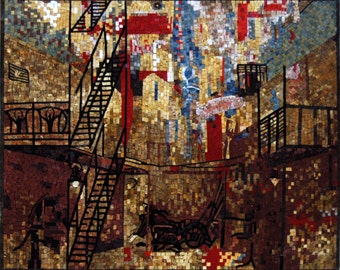 Abstract Mosaic Art- Urban Cityscape