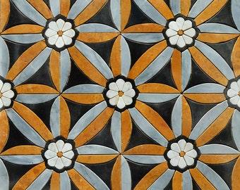 Floral Pattern Petal Tile Mural