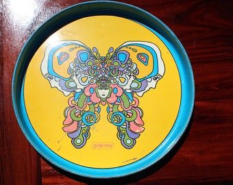 Mod Peter Max Tray from 1970s space age