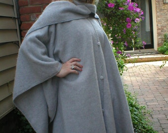 Black Alpaca capes from Peru with attached scarf and tam