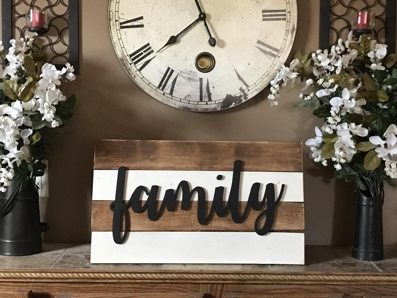 shiplap family sign 14x24 greige white rustic cottage farmhouse
