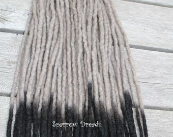 Wool Dreadlocks Half Set OMBRE SE Synthetic Dreads dread extensions, faux locks, fake dreads, felted dreads, Unicorn, Pastel, Rose