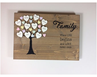 Family tree - Wooden family tree - Mothers day - Gift for mothers day - Custom family tree - Family tree gift - Personalised family