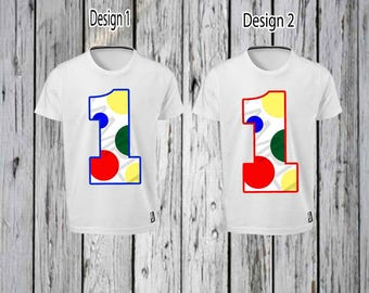 Circus Dots 1st Birthday Iron T shirt Design FILE ONLY! Circus Dots Tee Shirt Design- Circus Birthday Tee shirt- Circus Birthday- Polka dots