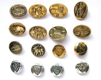Astrological signs, Zodiac, Vintage collectible badge, Pick your pin, Soviet Vintage Pin, Russian, Soviet Union, Made in USSR