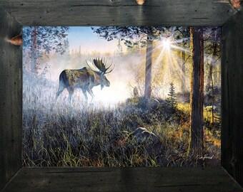 Moose, Moose Decor - Moose Print - Moose Wall Decor - Moose Stuff - Cabin Wall Decor - Lodge Wall Decor, Moose Art - Cabin Decor - Lodge Art