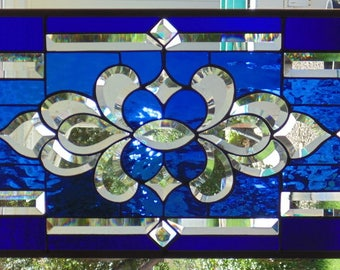 Stained Glass Window Hanging 29 X 14