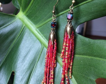 Waterfall Earrings from beads
