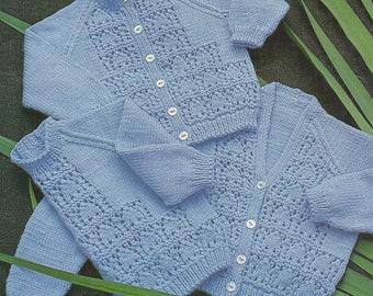 "Baby Knitting Pattern Cardigans & Sweater 22-28"" pdf"