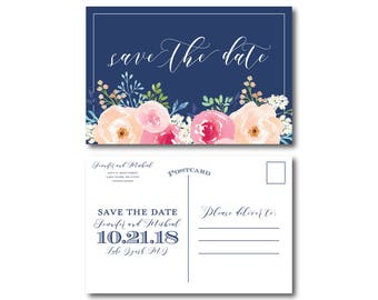 PRINTABLE Save the Date Postcard, Printable Save the Date, Wedding Save the Date, Save-the-Date, Wedding Postcard, Save our Date #CL331