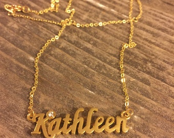 Kathleen Necklace in Gold or Silver