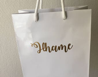 Personalised gift bag | Name gift bag | Bridal Shower Gift Bag | Unique Gift Bag | Baby Shower Gift Bag | Birthday Gift Bag