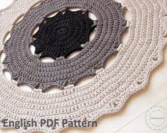 CROCHET Doily RUG PATTERN, diy crochet pattern, pdf rug patterrn, diy rug pattern, Crochet carpet pattern, crochet round rug