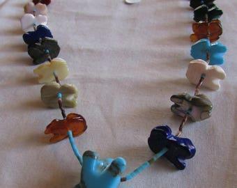 Colorful Frog Fetish Necklace