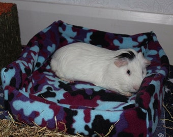 Custom made to order small animal fleece snuggle / cuddle bed   (guinea pigs, rats, hedgehogs, ferrets, rabbits, kittens)