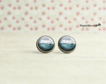 Ocean Stud Earrings - Swimmer Earrings - Surfer Earrings -  (H3340)