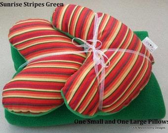 Mastectomy Gift Set of Mastectomy Pillows and Blanket Mastectomy Gift Idea Sunrise Stripes